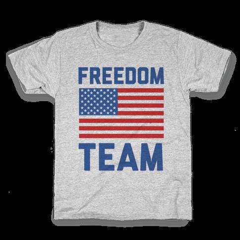 Freedom Team (cmyk) Kids T-Shirt