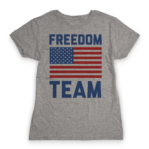 Freedom Team (cmyk) Womens T-Shirt