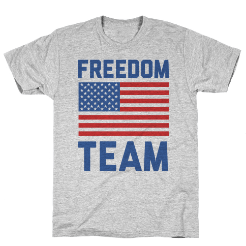 Freedom Team (cmyk) Mens T-Shirt