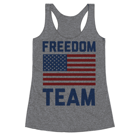Freedom Team (cmyk) Racerback Tank Top