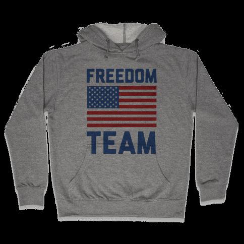 Freedom Team (cmyk) Hooded Sweatshirt