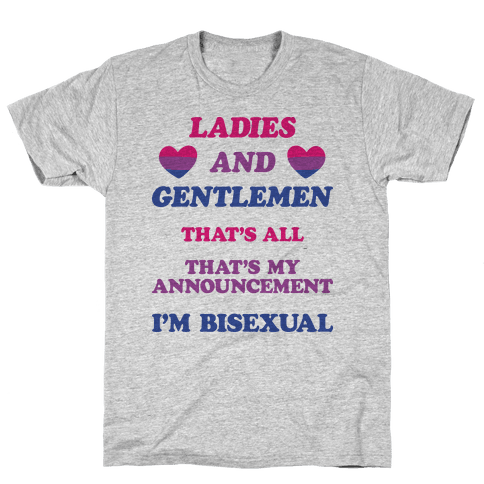 Ladies And Gentlemen I'm Bisexual Mens T-Shirt