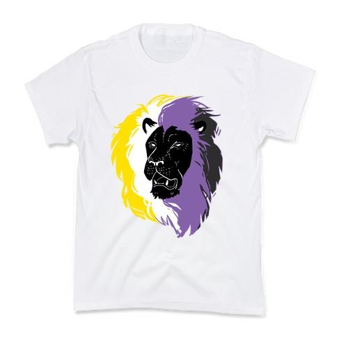 Non-binary Lion Pride Kids T-Shirt