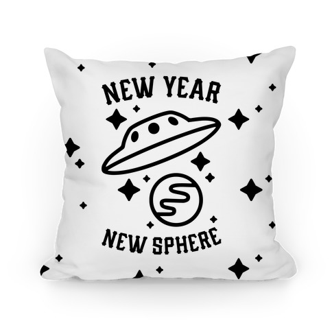 New Year New Sphere Pillow