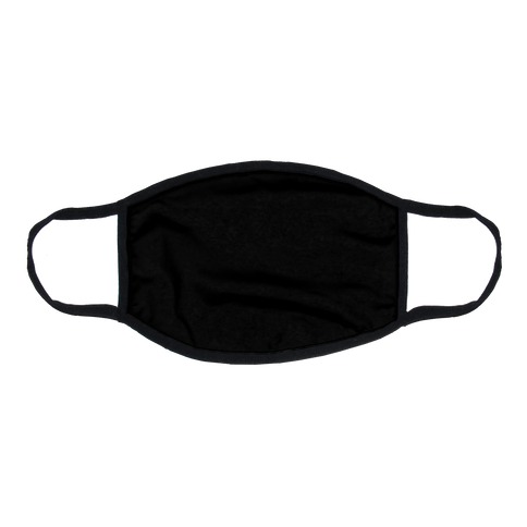 Black Flat Face Mask