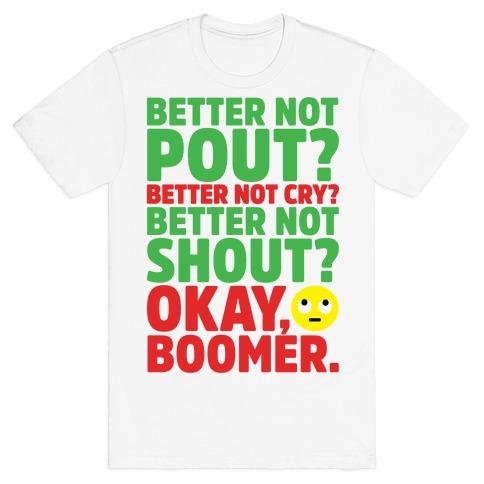 Okay Boom Santa Parody T-Shirt