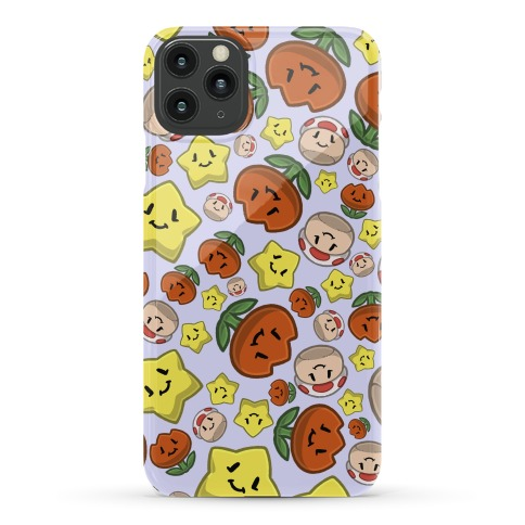 Stuffed Powerups Pattern Phone Case