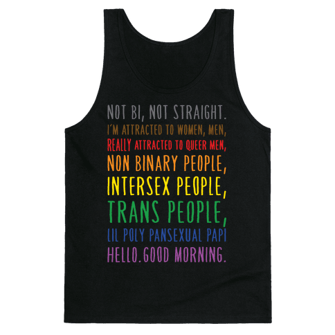 Kehlani Queer Identity Pride Quote White Print Tank Top