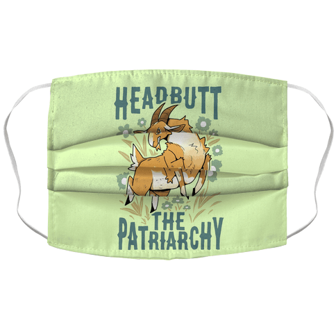 Headbutt The Patriarchy Accordion Face Mask