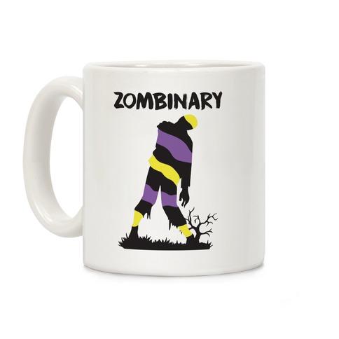 Zombinary Nonbinary Zombie Coffee Mug