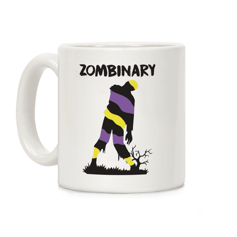 Zombinary Nonbinary Zombie Coffee Mug
