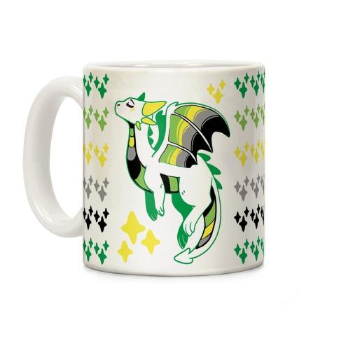 Aromantic Pride Dragon Coffee Mug