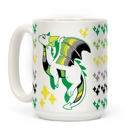 Aromantic Pride Dragon Coffee Mug