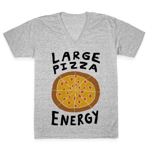 Large Pizza Energy V-Neck Tee Shirt