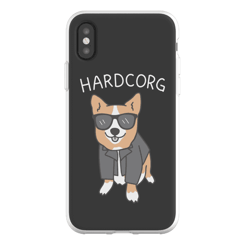 Hardcorg Hardcore Corgi Phone Flexi-Case