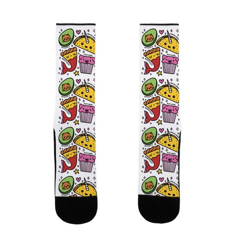 Cute Food Mashups Sock