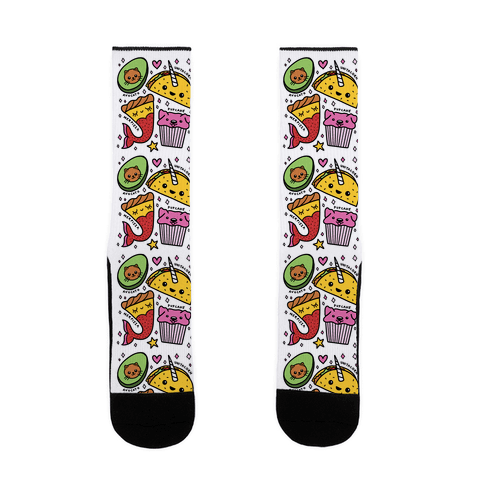 Cute Food Mashups Sock