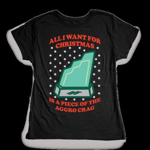 Aggro Crag Christmas Womens T-Shirt