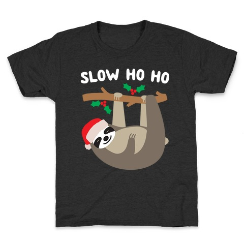 Slow Ho Ho Santa Sloth Kids T-Shirt