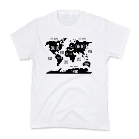 The Ohio World Map Kids T-Shirt