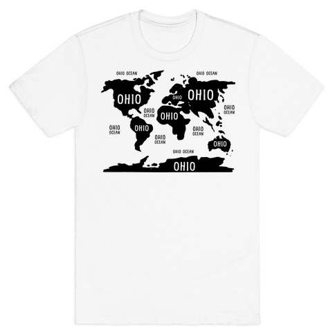 The Ohio World Map T-Shirt