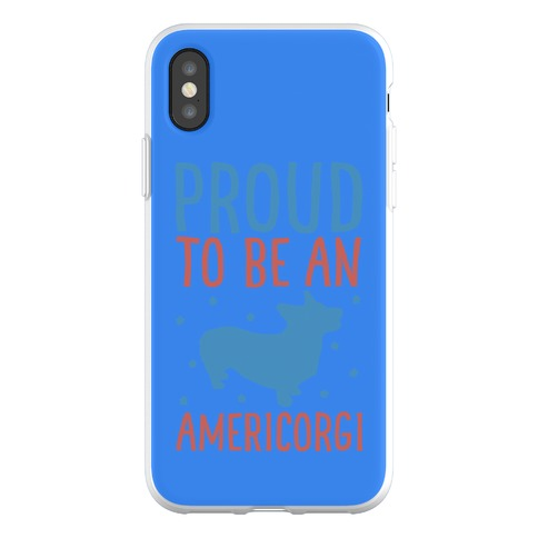 Proud To Be An Amercorgi Phone Flexi-Case