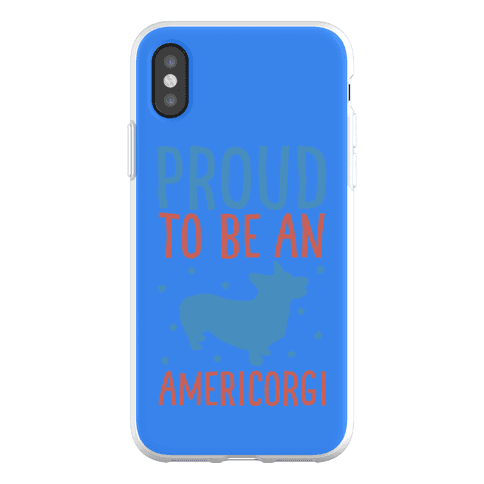 Proud To Be An Amercorgi Phone Flexi-Case