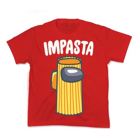 Impasta Parody White Print Kids T-Shirt
