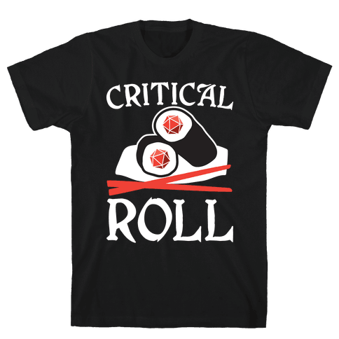 Critical Roll Sushi DnD Mens/Unisex T-Shirt