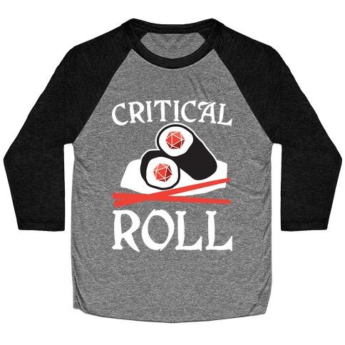 Critical Roll Sushi DnD Baseball Tee