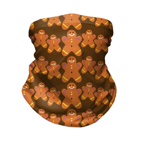 Ginger Bread Them Pattern Neck Gaiter