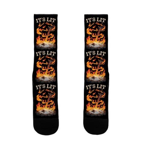 It's Lit Bonfire Sock