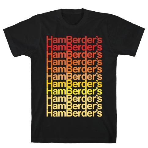 Hamberder's Parody White Print T-Shirt