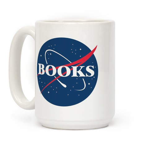 Books Nasa Parody Coffee Mug