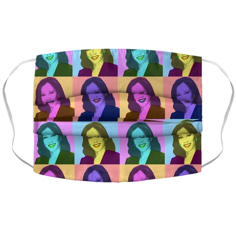 Pop Art Kamala Accordion Face Mask