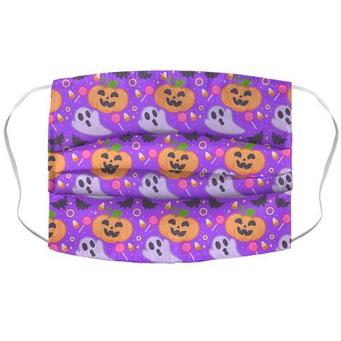 Halloween Fun Pattern Accordion Face Mask