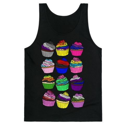 LGBTQ+ Cartoon Cupcakes Tank Top