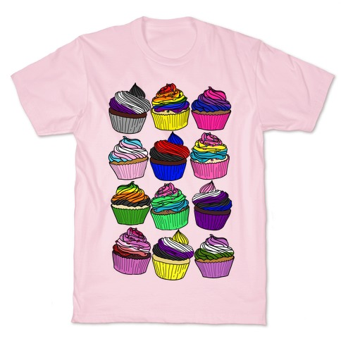 LGBTQ+ Cartoon Cupcakes T-Shirt