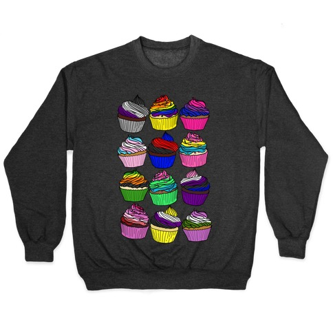 LGBTQ+ Cartoon Cupcakes Pullover