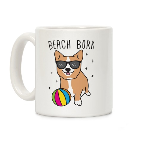 Beach Bork Corgi Coffee Mug