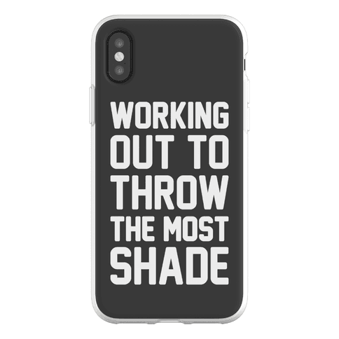 Working Out To Throw The Most Shade Phone Flexi-Case