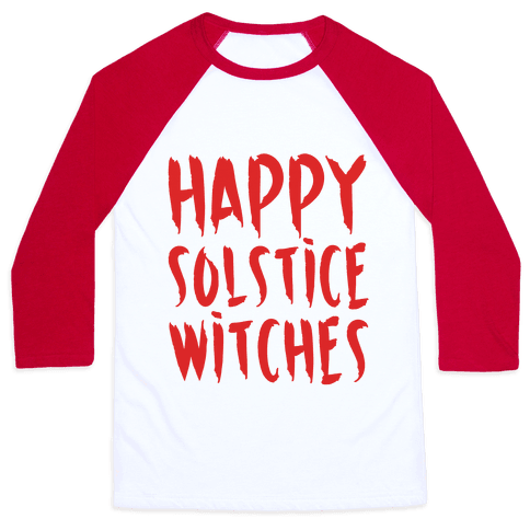 Happy Solstice Witches Parody Baseball Tee