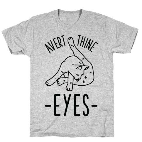 Avert Thine Eyes Cat Licking Butthole T-Shirt