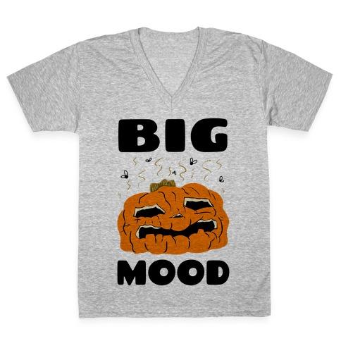 Big Mood Rotting Pumpkin V-Neck Tee Shirt