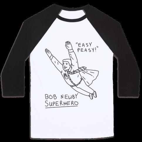 Bob Newby Superhero Baseball Tee