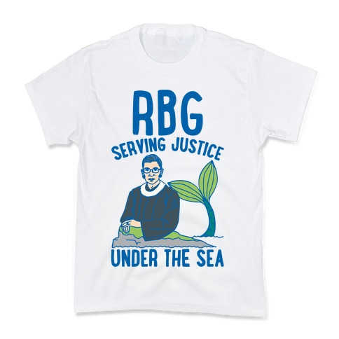 RBG Serving Justice Under The Sea Kids T-Shirt