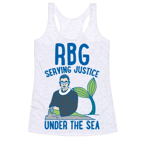 RBG Serving Justice Under The Sea Racerback Tank Top