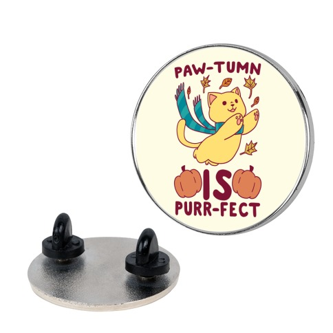 Paw-tumn is Purrfect Pin