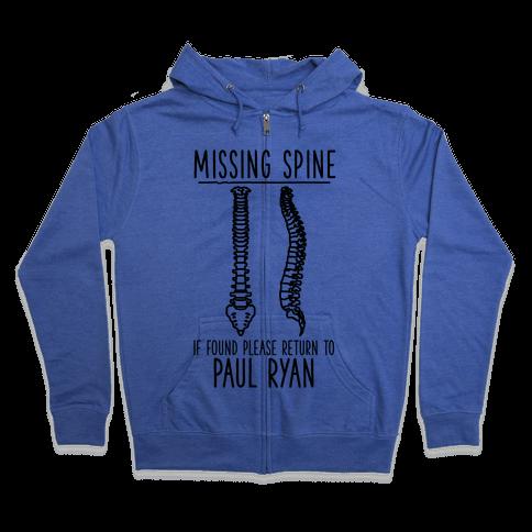 Missing Spine Zip Hoodie