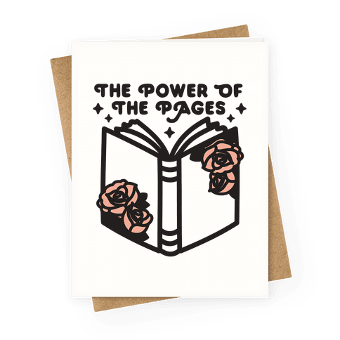 The Power Of The Pages Greeting Card
